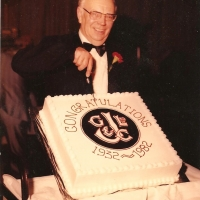 George Johnson at company's 50th Anniversary 1982
